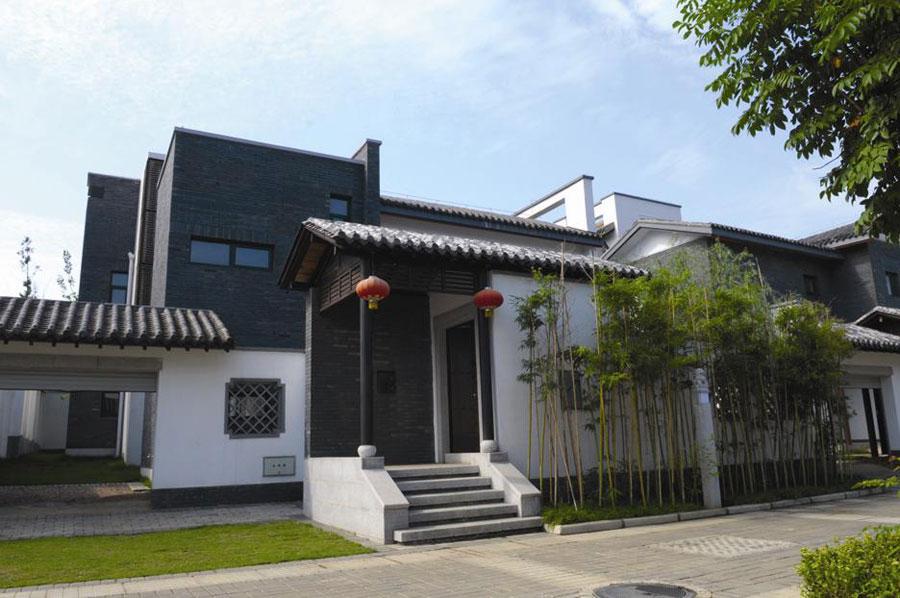 新中式农村小院效果图